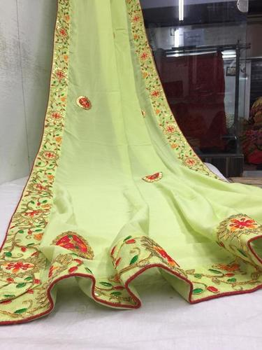 GOTA PATTI VICHITRA SILK SAREE