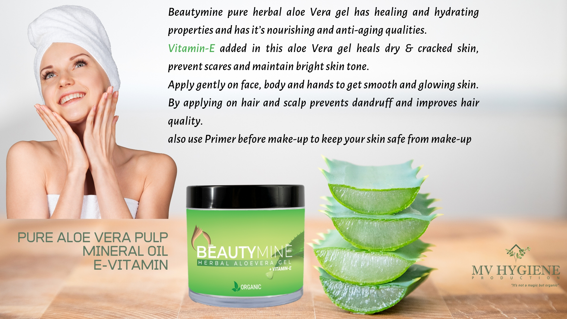 Beautymine Herbal Aloevera Gel