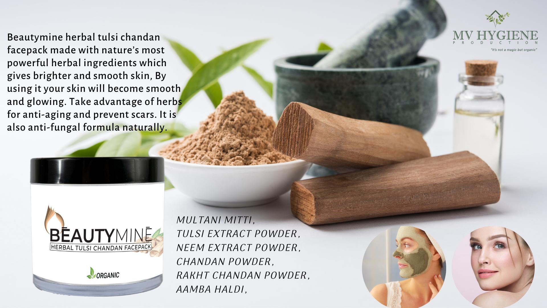 Beautymine Herbal Tulsi Chandan Face Pack