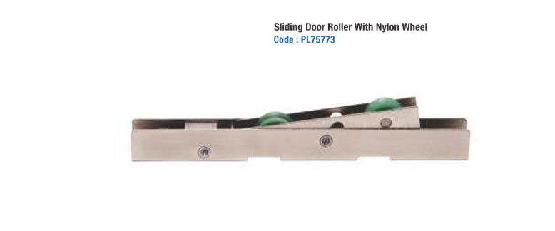 Nylon Wheel Double Roller