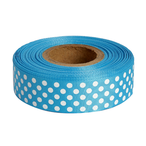 Polka Dots Turquoise Blue