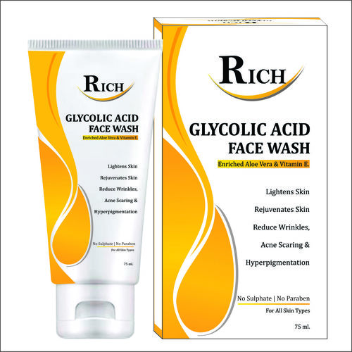 Private Label Glycolic Acid Face  WASH  MANUFACTURING