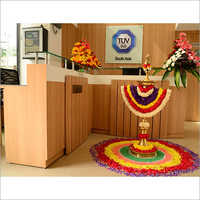 Reception Wooden Interior Designing Services