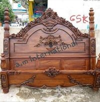 handcrafted wooden bed furniture
