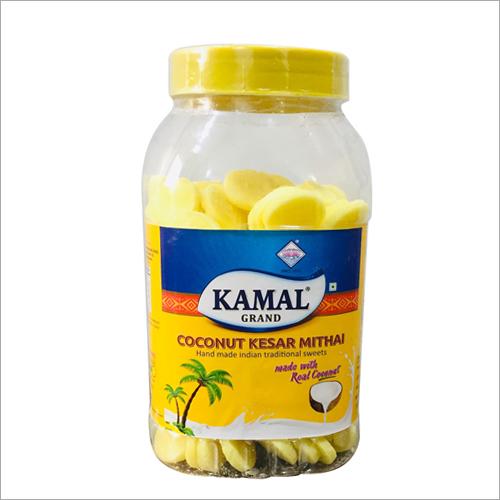 Coconut Kesar Mithai