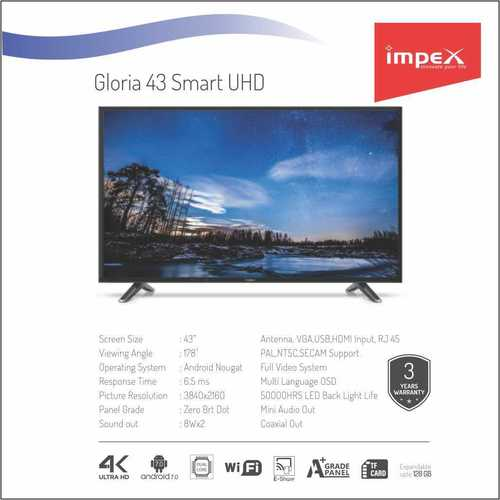 Impex Gloria 43 inches Smart Television