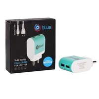 TA-02 Rapid  2.4 amp Fast Travel Bluei Charger