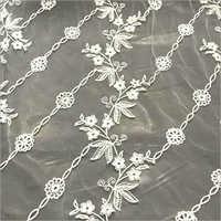 Golden Net Embroidered Dupatta