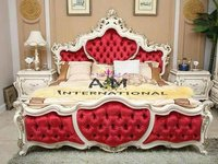 royal carved wooden bed
