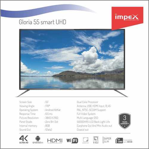 Impex Gloria 55 inches Smart Television