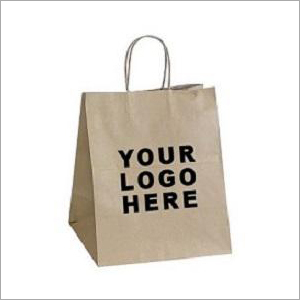 Brown Printed Paper Bag
