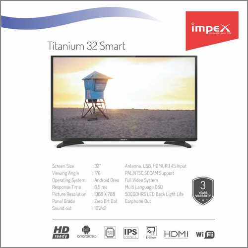 Impex Titanium 32 inches Smart Television