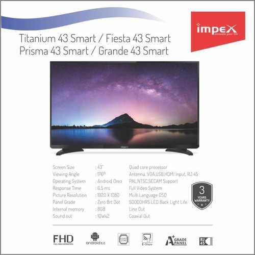 Impex Titatnium 43 inches Smart Television