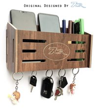 Wooden Shelf and Key Holder