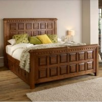 handcrafted teak wood bed
