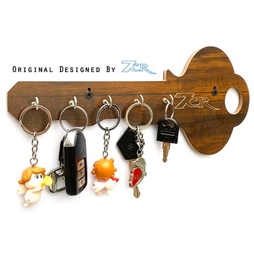 Key Shape Key Ring Holder