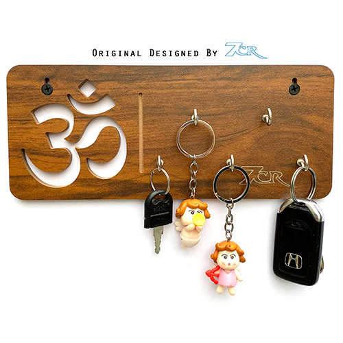 Om Shape Key Chain Holder