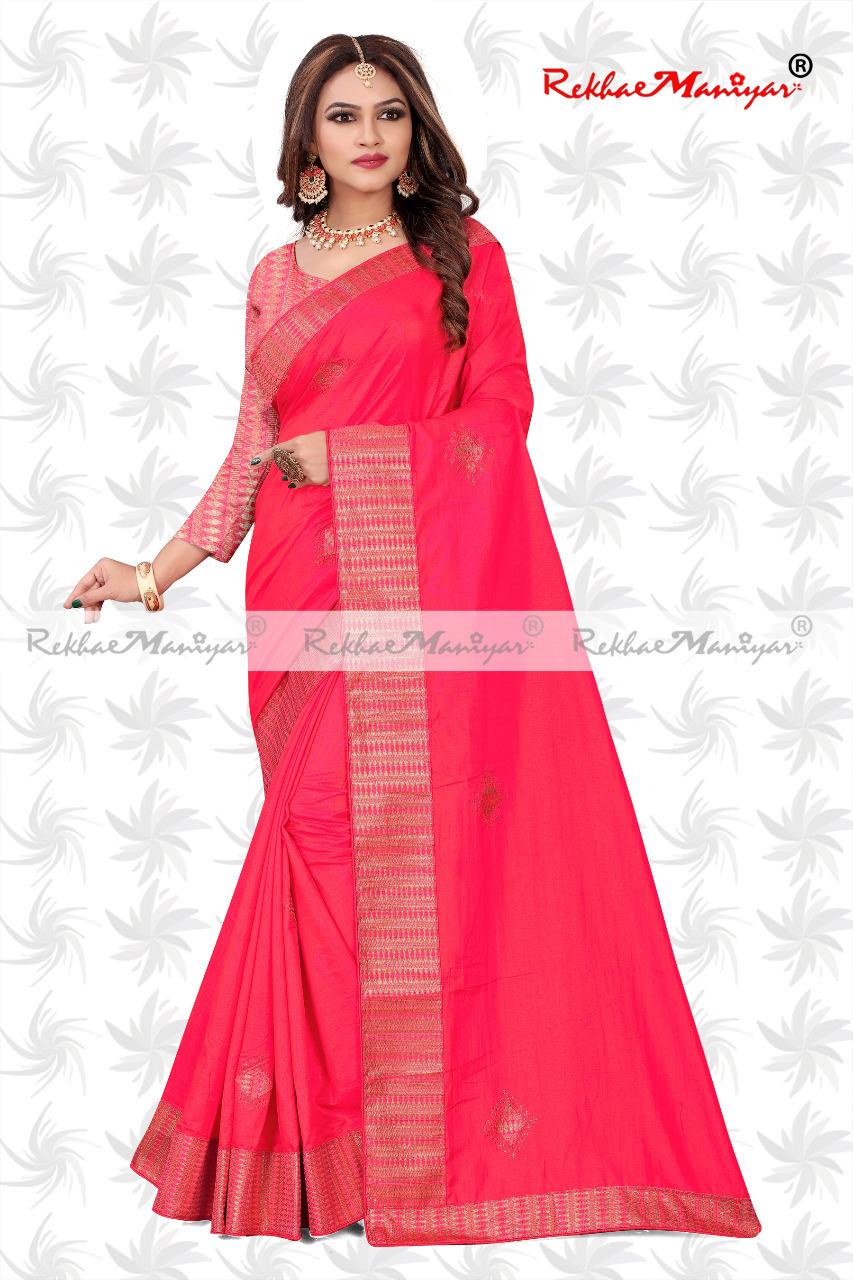 Sana Silk Stone Work Heavy Bordered Saree With Jacquard Blouse