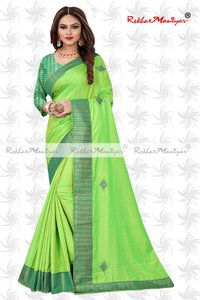 Sana Silk Stone Work Heavy Bordered Saree With Jacquard Blouse