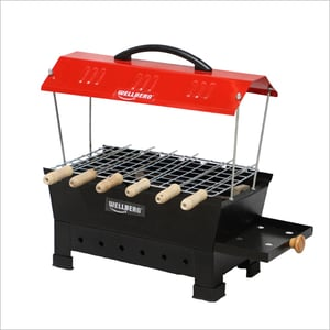 Hut Shape Portable Electric And Charcoal Barbeque Grill