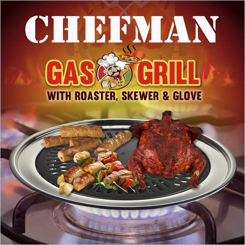 CHEFMAN Gas Grill Indoor Smokeless Barbeque