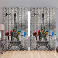 Eiffel Tower 3D Curtain