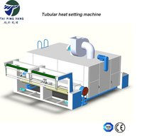 Knitted fabric cloth shrinking and heat setting machine