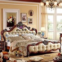antique style wooden bed