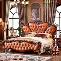 royal handcrafted wooden bed