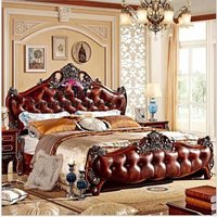 royal finished wooden bed