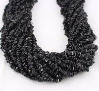 30% off sale Black Tourmaline Uncut Chip beads, 36 Inches Strand