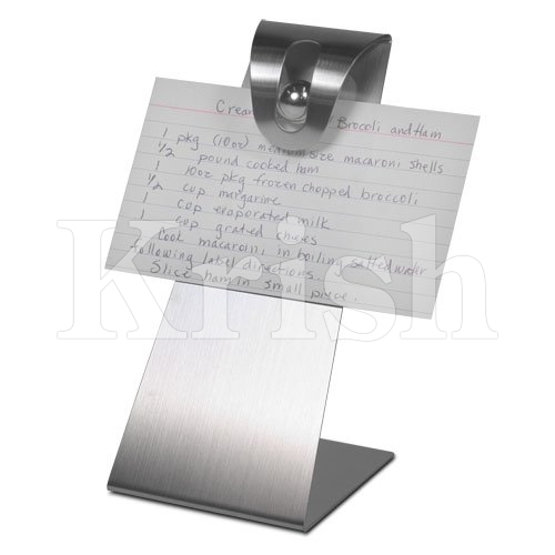SS Note & Recipe Holder