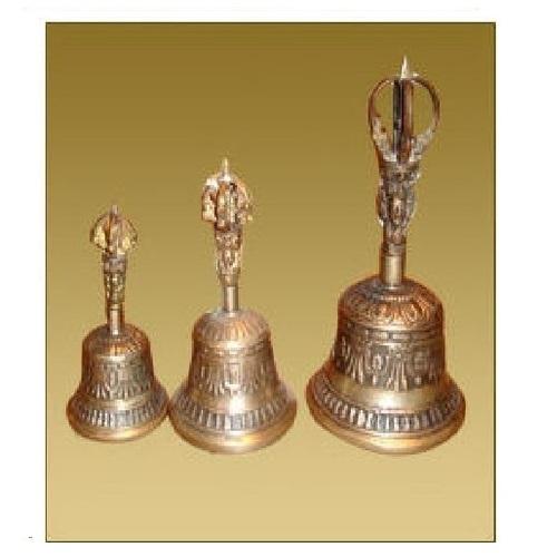 Golden Tibetan Bell For Religious