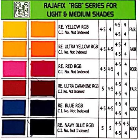 Reactive RGB Series Dyes