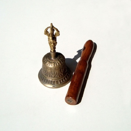 Buddhist Singing Bell with Stick - SMALL