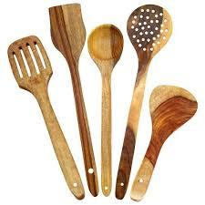 wooden spoons set of 5
