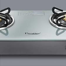 Prestige Jade Gas Stove (GTJ 02 with Powder Coated Body, Glass top, 2 Brass Burner)