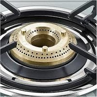 Prestige Jade Gas Stove (GTJ 02 with Powder Coated Body, Glass top, 2 Brass Burner)