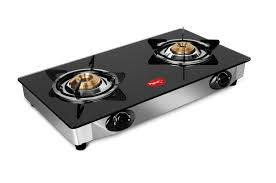 Pigeon By Stovekraft Favourite 2-Burner Glass Top Gas Stove, Black