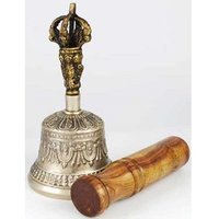 Bronze Tibetan Hand Bell and Puja Stick- New