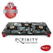 Pigeon by Stovekraft Infinity Stealth 3 Burner LPG Stove (Special Edition)