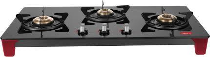 Pigeon by Stovekraft Infinity 3 Burner LPG Stove, Black