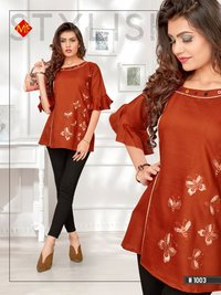 COTTON SLUB SHORT KURTI