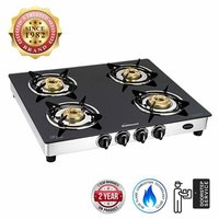 Sunflame Diamond Glass Top 4 Burner Gas Stove