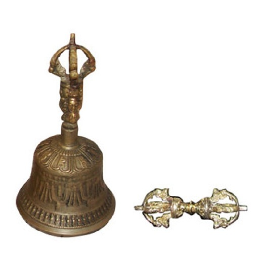Medium Tibetan Bell & Dorje-Handmade