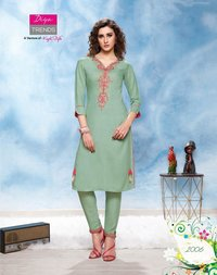 RAYON COTTON FLEX KURTI WITH PANT PAIR