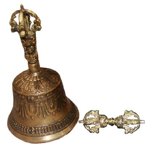 Large Tibetan Bell & Dorje From India