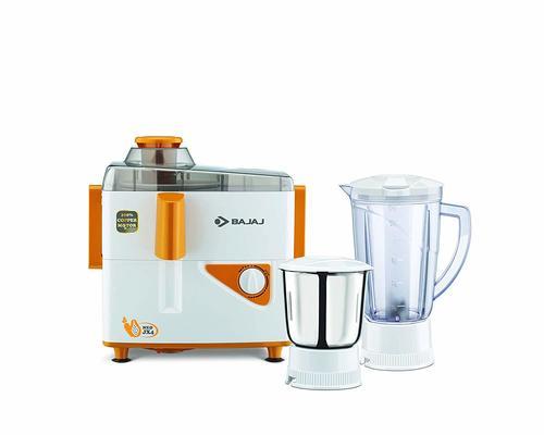 Bajaj Neo JX4 450-Watt Juicer Mixer Grinder with 2 Jars (White/Orange)