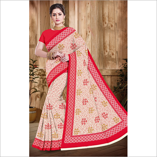 Cotton Partywear Saree