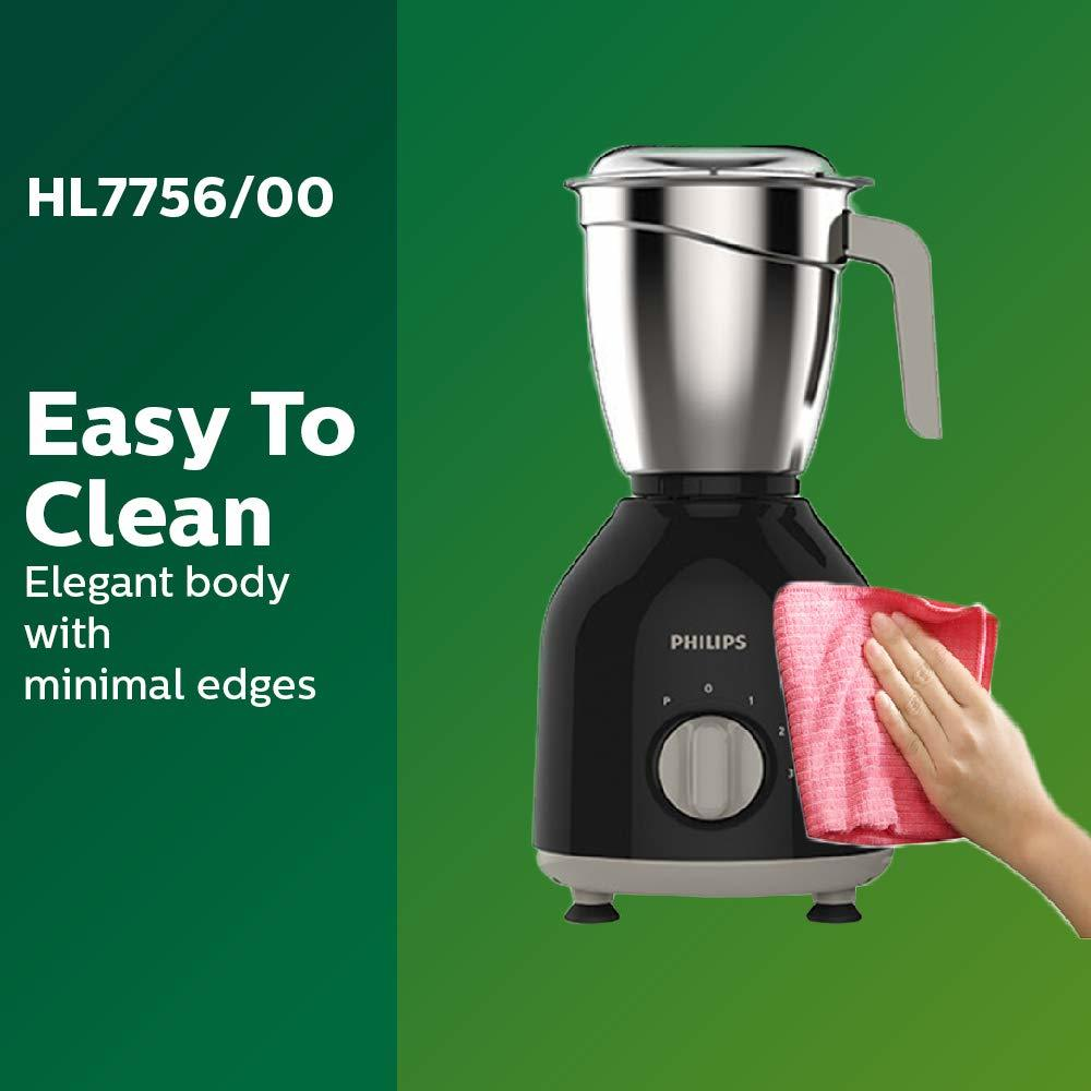 Philips HL7756/00 750-Watt Mixer Grinder with 3 Jars (Black)